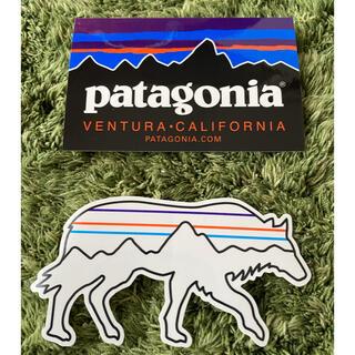 パタゴニア(patagonia)のパタゴニア ステッカーカリフォルニア、新作ウルフ(登山用品)