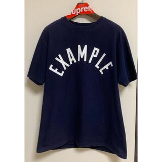 BARNEYS NEW YORK - EXAMPLE example イグズアンプル サークルロゴ tシャツ