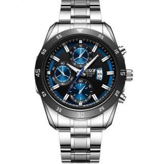 盤面 ブルー メンズ腕時計 新品 大特価 送料無料(腕時計(アナログ))