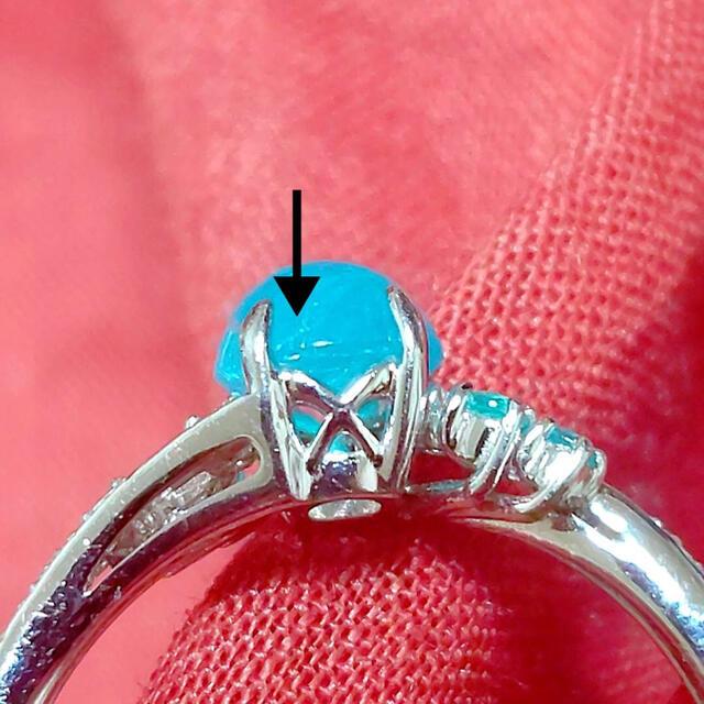 写真更新!パライバトルマリン❤️13.5号/計0.78ct+ダイヤプラチナリング レディースのアクセサリー(リング(指輪))の商品写真