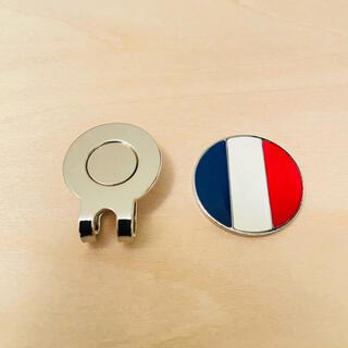 ゴルフマーカー マグネットタイプ フランス国旗 トリコロール