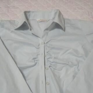 アオキ(AOKI)のAOKI 薄いブルー ブラウス(シャツ/ブラウス(長袖/七分))