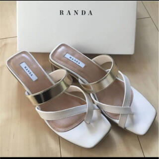 RANDA - 美品 ランダ サンダル 新品未使用