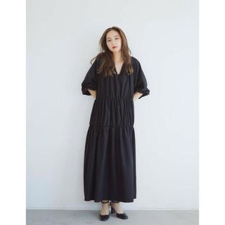 RANDEBOO RB shirring dress (Black)(ロングワンピース/マキシワンピース)