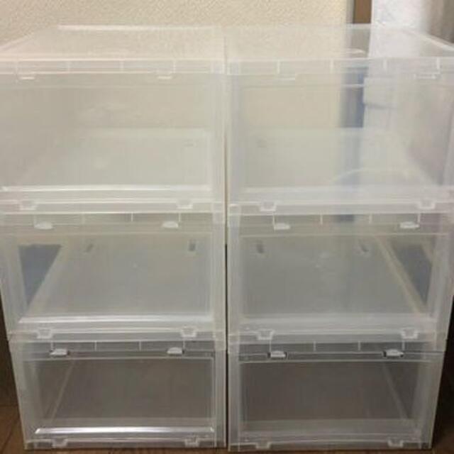 TOWER BOX タワーボックス シューズボックス 6個セット インテリア/住まい/日用品の収納家具(ケース/ボックス)の商品写真