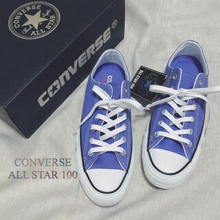 CONVERSE - 未使用 コンバース オールスター 100 OX スニーカー パープル 24.5㎝