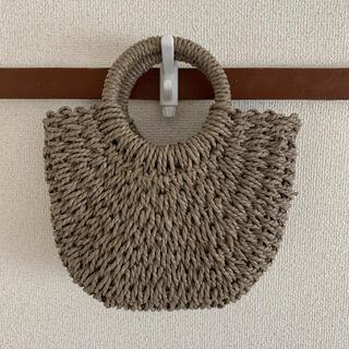 シマムラ(しまむら)のプチプラのあや かごショルダーバッグ  淡茶色(かごバッグ/ストローバッグ)