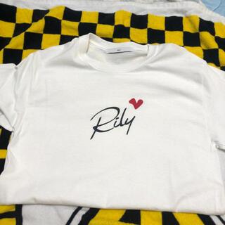 リリイ(Lily)の今市隆二 Rily 白Tシャツ(Tシャツ/カットソー(半袖/袖なし))