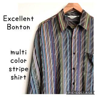 ラルフローレン(Ralph Lauren)のExcellent Bonton マルチカラー ストライプ 長袖シャツ 柄シャツ(シャツ)