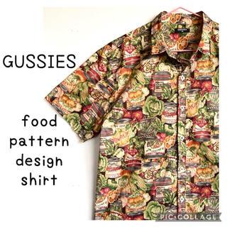 ラルフローレン(Ralph Lauren)のGUSSIES フードパターン 総柄 半袖 柄シャツ 缶詰 野菜 ビッグサイズ(シャツ)