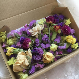 大人気 再販 ドライフラワー 詰め合わせ スターチス 薔薇 ハンドメイド 花材(ドライフラワー)