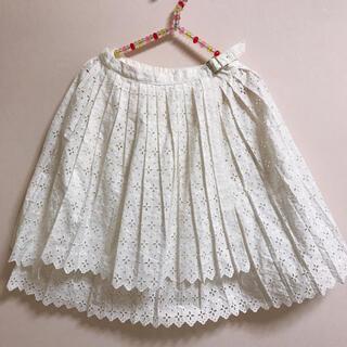 ジェーンマープル(JaneMarple)のコットンレースの巻きスカート(ひざ丈スカート)