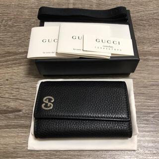 グッチ(Gucci)の美品 グッチ GUCCI キーケース ブラック レザー(キーケース)