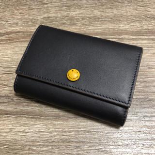 ANYA HINDMARCH - 美品 アニヤハインドマーチ スマイリー 三つ折り財布 ネイビー系 レザー