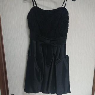 ビーラディエンス(BE RADIANCE)のBE RADIANCE ブラック バルーンスカート ドレス size.M(ミニドレス)