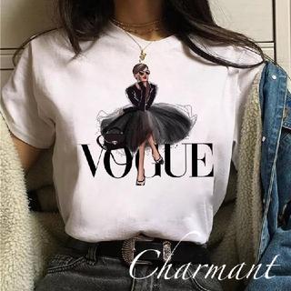 Rady - VOGUE Tシャツ 可愛い 海外セレブ 白 春夏 レディース トップス