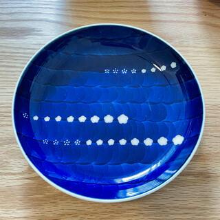 染付梅地紋 梅柄 皿 器 トレー