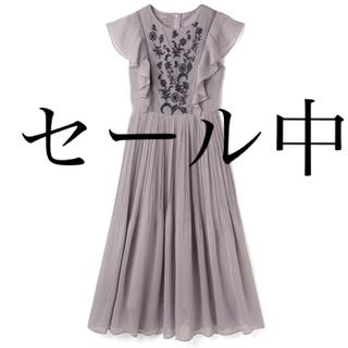 GRL - 【本日限定価格】花柄刺繍シフォンプリーツワンピース 新品タグ付き