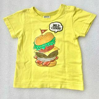 BREEZE - BREEZE 黄色×バーガー半袖Tシャツ 90