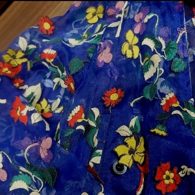 sacai(サカイ)の専用 Sacai サカイ 刺繍 ブルゾン ジャンパー 青 秋元梢 リステア  レディースのジャケット/アウター(ブルゾン)の商品写真