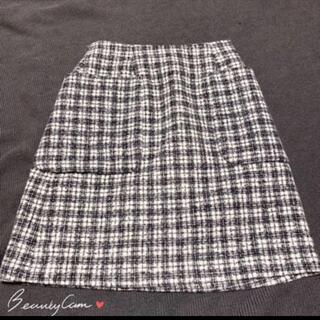 エニィスィス(anySiS)のany SiS ツイードスカート(ひざ丈スカート)