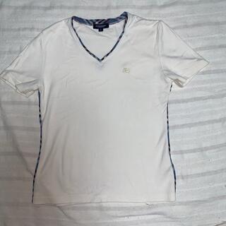 バーバリー(BURBERRY)のバーバリー VネックTシャツ L(Tシャツ(半袖/袖なし))