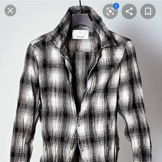 ISAMUKATAYAMA BACKLASH - ジュンハシモト×アタッチメント フックシャツ サイズ2 ホワイトグレーブラック