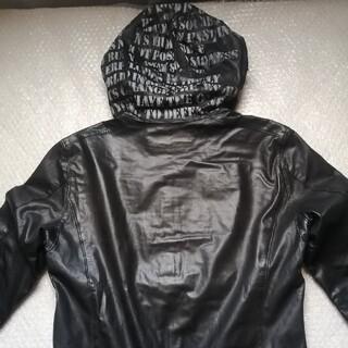 イサムカタヤマバックラッシュ(ISAMUKATAYAMA BACKLASH)のイサムカタヤマバックラッシュ カウレザーパーカー サイズ1 ブラック(パーカー)