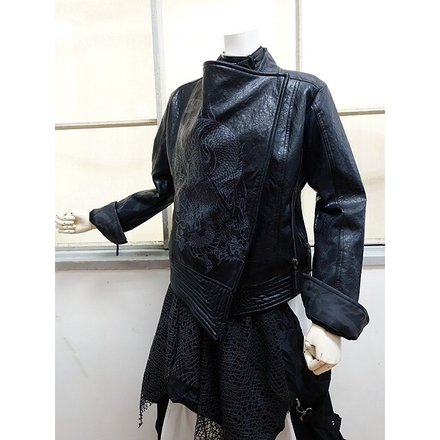 OZZON(オッズオン)のキューティーフラッシュ ライダースジャケット レディースのジャケット/アウター(ライダースジャケット)の商品写真