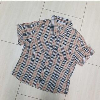 バーバリー(BURBERRY)の極美品 BURBERRYLONDON ノバチェックシャツ 150(ブラウス)