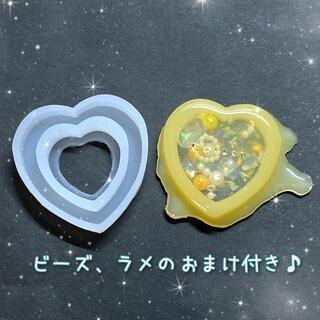 ❤ハートシェイカー レジン 型 シリコンモールド 【#1-中】a13