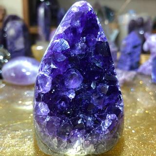 アメジスト 原石 sacred ミニドーム 紫水晶(置物)