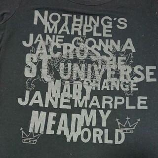 ジェーンマープル(JaneMarple)のロゴTシャツ 黒(Tシャツ(半袖/袖なし))