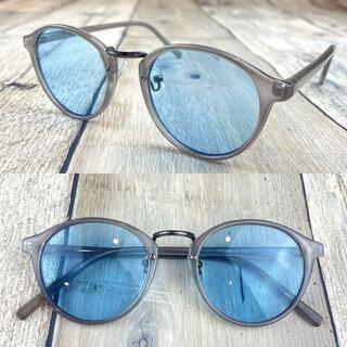 インスタ人気商品❗ライトブルー ボストン ウェリントン サングラス 眼鏡