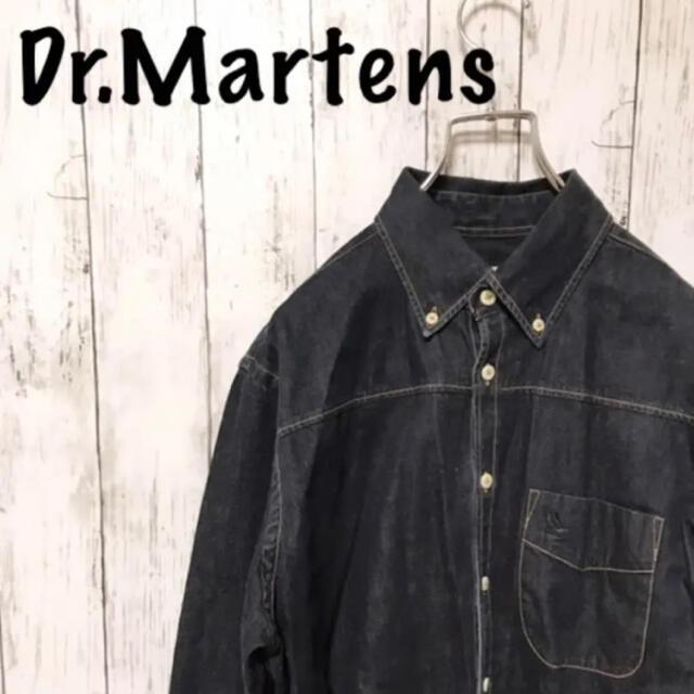 Dr.Martens(ドクターマーチン)の【レア】ドクターマーチン ポルトガル製 刺繍ロゴ デニムシャツ 長袖 メンズ メンズのトップス(シャツ)の商品写真