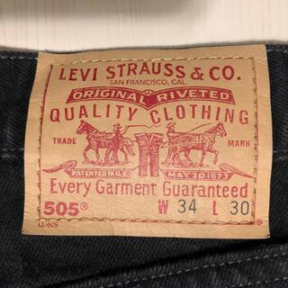 リーバイス(Levi's)の90s リーバイス 505 ブラックデニム 34/30 ゴールデンサイズ(デニム/ジーンズ)
