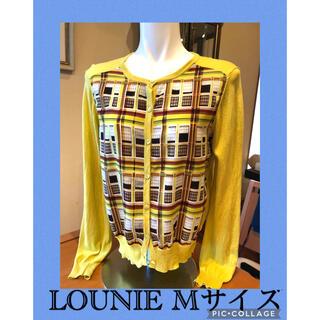 LOUNIE - ルーニィ  ❤️スカーフ生地プリント柄カーディガン黄色