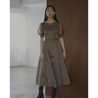 Ameri VINTAGE - Ameri vintage SHEER PUFF SLEEVE DRESS