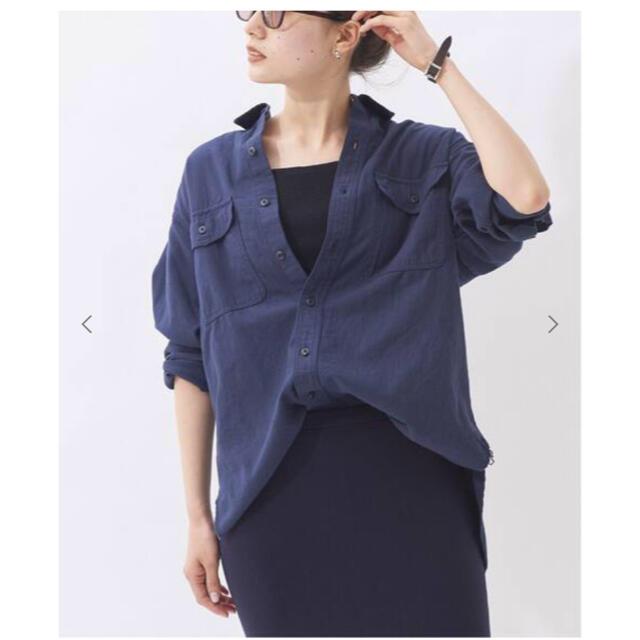 Plage(プラージュ)のフラワー様ご専用 新品タグ付き未使用 Plage DOBBYシャツ レディースのトップス(シャツ/ブラウス(長袖/七分))の商品写真