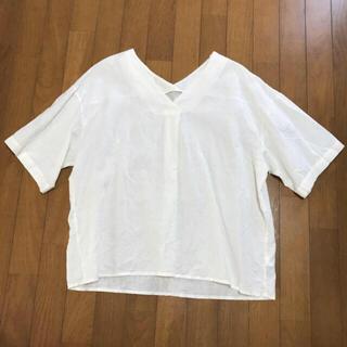 メルロー(merlot)のブラウス 白(シャツ/ブラウス(半袖/袖なし))