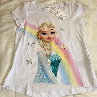 エイチアンドエム(H&M)の新品未使用 H&M Tシャツ 1枚 エルサ アナと雪の女王 h&m(Tシャツ/カットソー)
