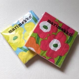 マリメッコ(marimekko)のマリメッコ ペーパーナプキン 2点(テーブル用品)
