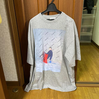 Balenciaga - balenciaga フォトプリントTシャツ グレー 18ss