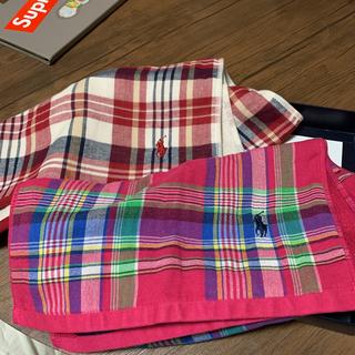 ラルフローレン(Ralph Lauren)のラルフローレン ガーゼフェイスタオルセット 3枚 新品(タオル/バス用品)