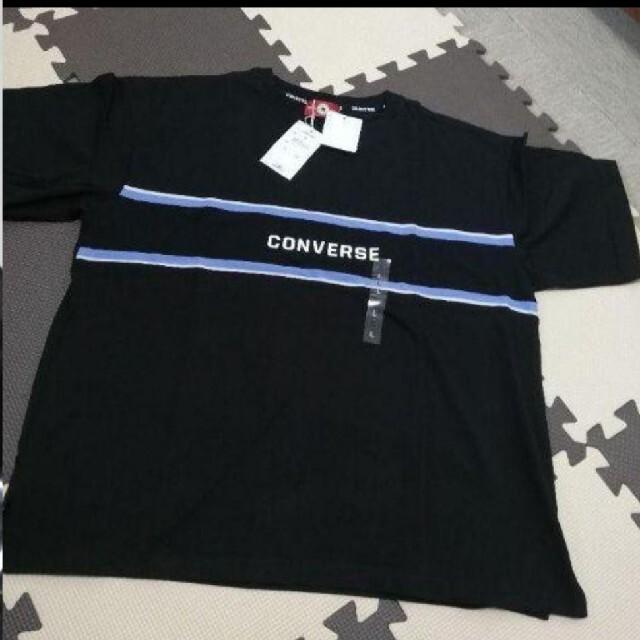 CONVERSE(コンバース)の新品 レディース CONVERSE 鹿の子切替ワイドTシャツ Lサイズ 2着 レディースのトップス(Tシャツ(半袖/袖なし))の商品写真