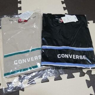 CONVERSE - 新品 レディース CONVERSE 鹿の子切替ワイドTシャツ Lサイズ 2着