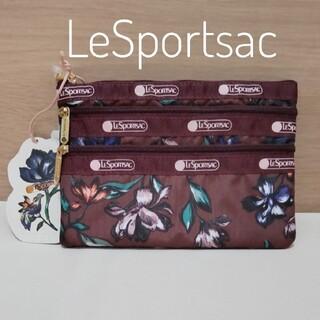 LeSportsac - 新品 レスポ♡人気3-ZIPポーチ♡大草直子さんコラボ