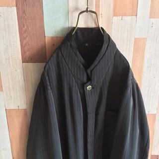 アートヴィンテージ(ART VINTAGE)の個性的 vintage 変形シャツ 古着 総柄 縦縞 日本製 ポリエステル(シャツ)