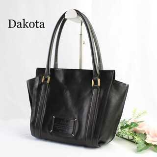 ダコタ(Dakota)のダコタ★レザー 本革 ハンドバッグ 黒 ブラック 肩掛け 上質 ロゴ(ハンドバッグ)