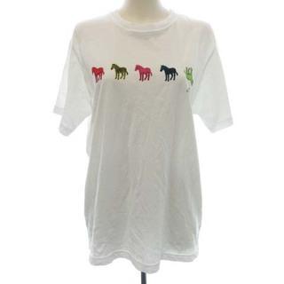 ポールスミス(Paul Smith)のポールスミス Tシャツ カットソー 半袖 イラスト プリント シマウマ M 白(Tシャツ(半袖/袖なし))